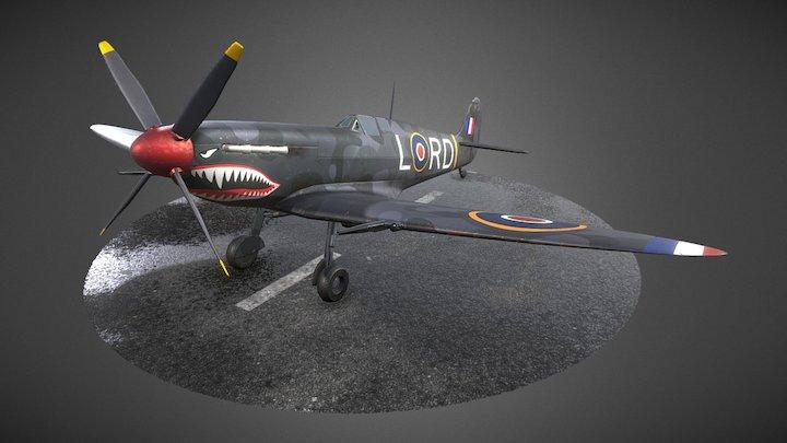 "Spitfire - ""The Black Mamba"" 3D Model"