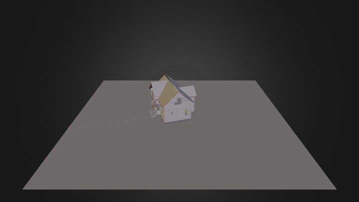 Casa Madera 3D Model