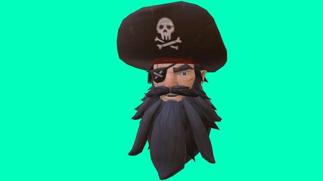 Blackbeard's Head 3D Model