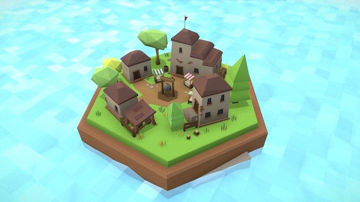 Middle village tile 3D Model