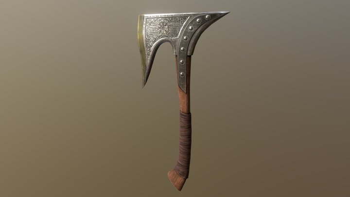 Nordic Axe Model (Part of a larger project) 3D Model