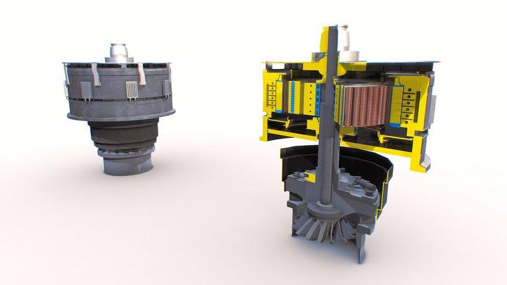 Hydrogenerator | Old work 3D Model