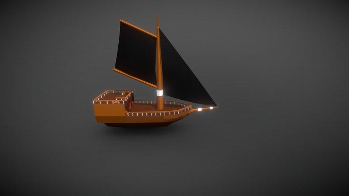 Argon Pirate Ship 3D Model