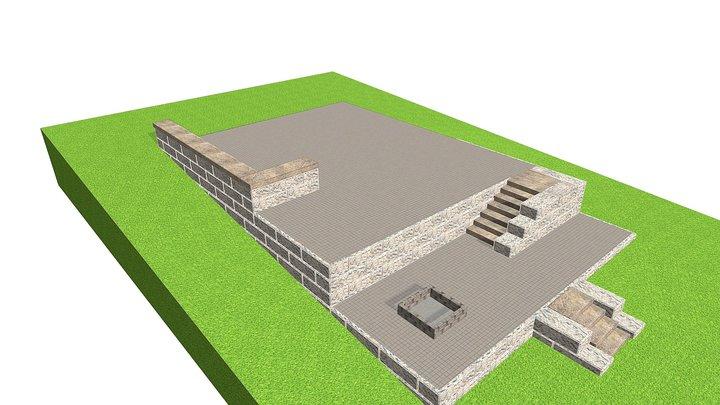 Tiered Patio - ReCon 3D Model