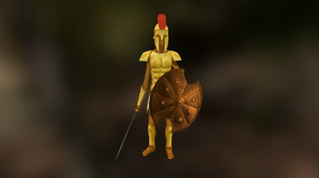 Greek Warrior 3D Model