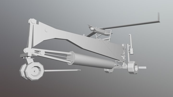 Boeing Insitu Scan Eagle - Lowpoly in 3ds Max 3D Model