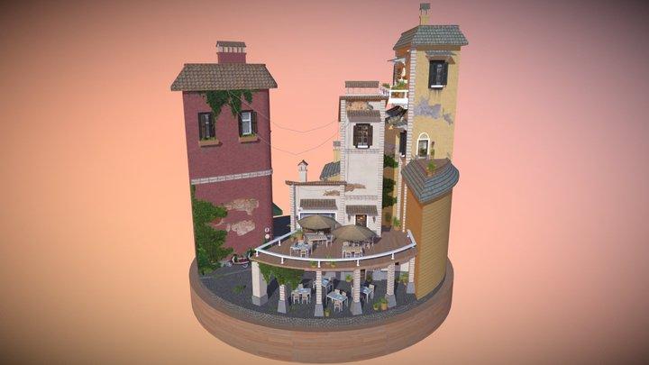 City Scene Rome 3D Model