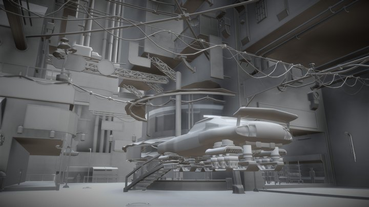 Cyberpunk City assets 3D Model