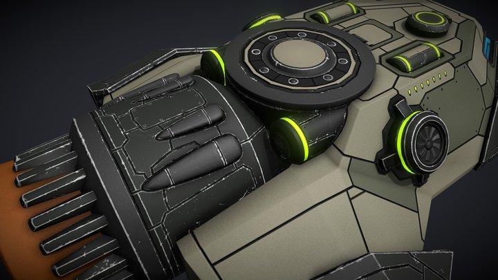 Sci-fi Space Gunboat/Scout Ship 3D Model