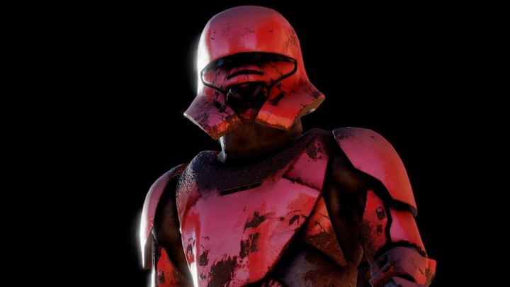 Jet-Trooper (Rigged) + (Animated) 3D Model