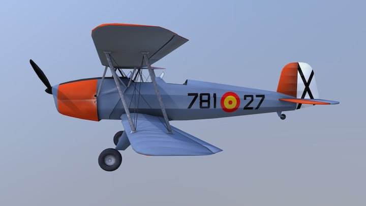 Bücker 131 3D Model