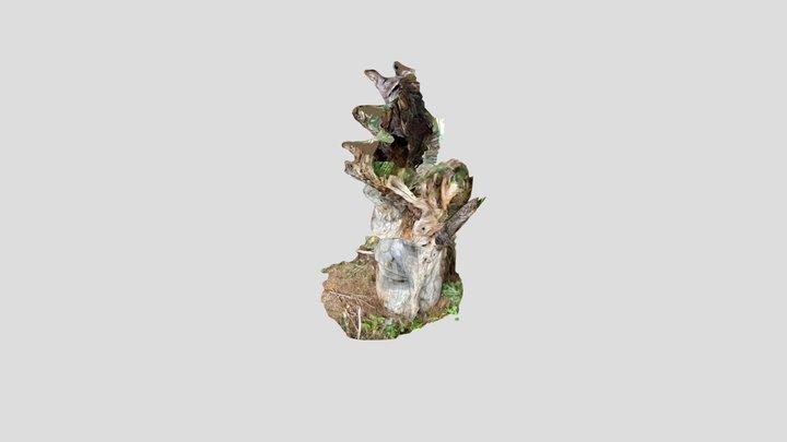 Skulptur Holzmensch, Freiburg 3D Model