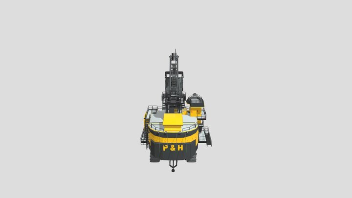 P&H4100C Boss Low Detail 3D Model