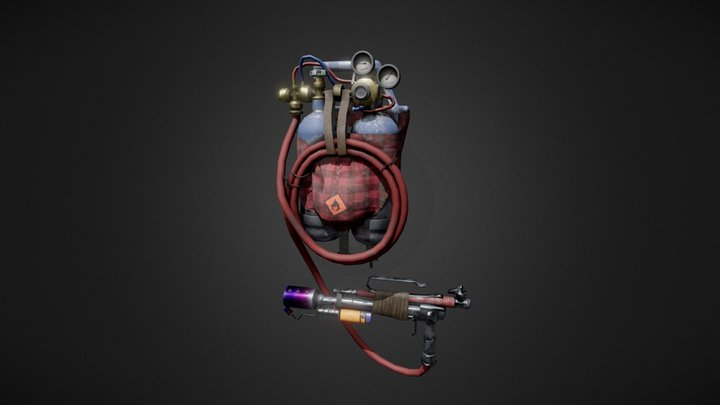 Flame Thrower 3D Model