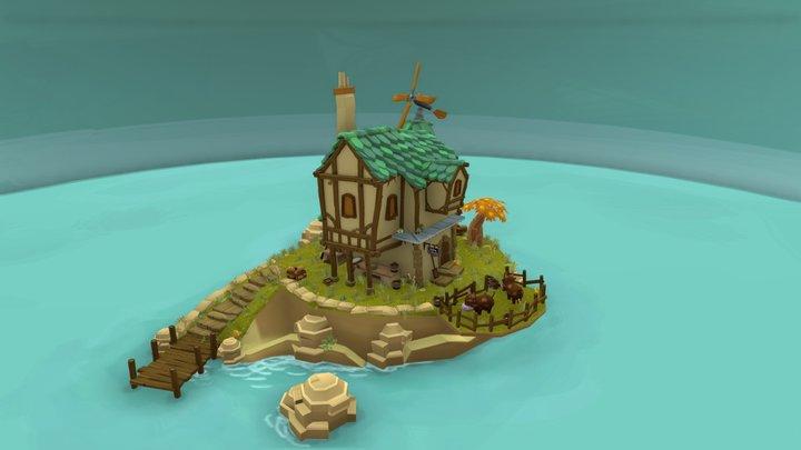 Bakery Game Art 3D Model