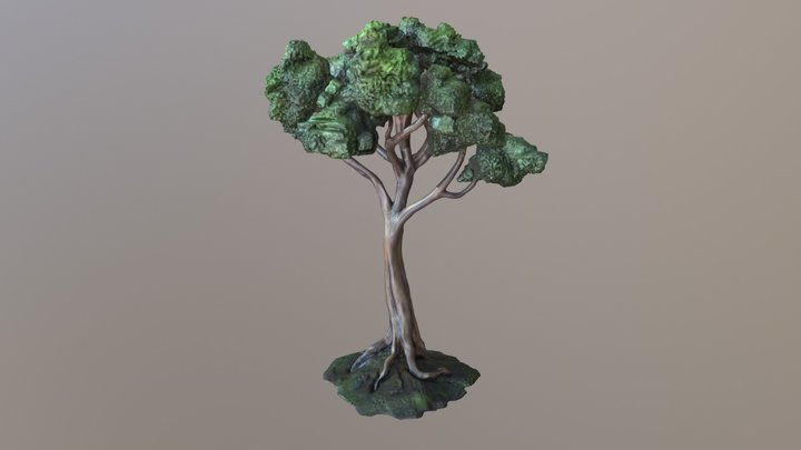 Sustainable Landscape Tree 3D Model