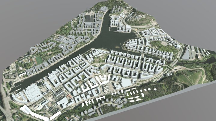 Hammarby Sjöstad 3D Model