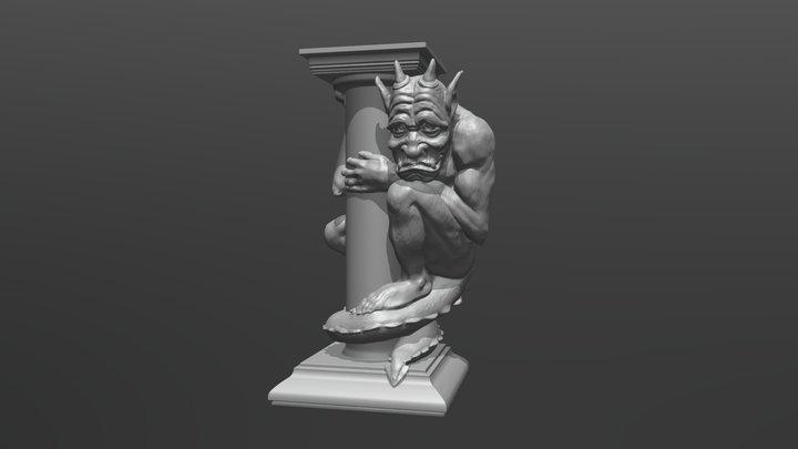 Be Our Guest Gargoyle 3D Model