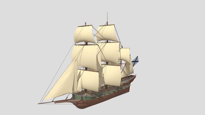 Russian chebeque Minerva 3D Model