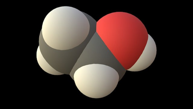 Ethanol 3D Model
