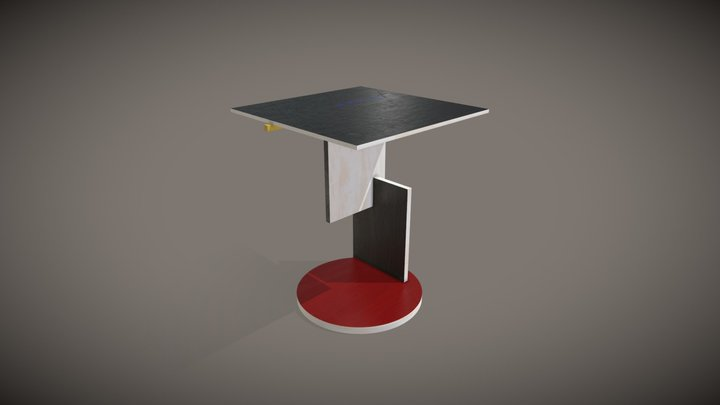 End Table (Gerrit Rietveld, 1923) 3D Model