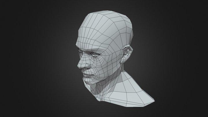 Low-poly-head-neck 3D Model