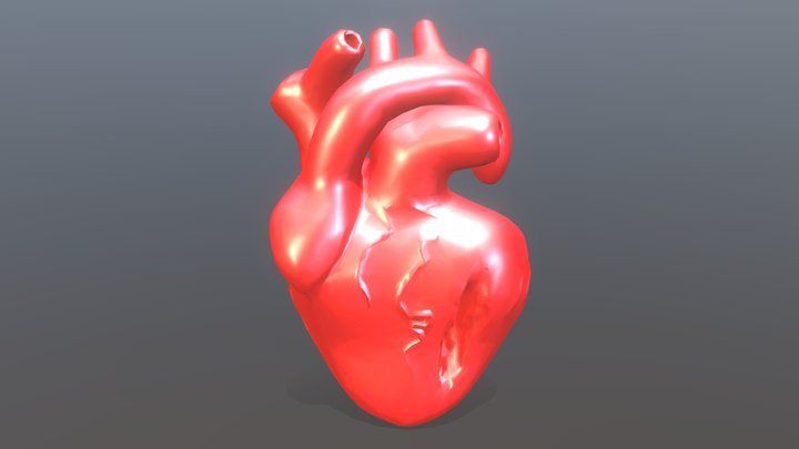 Damaged Heart - Low Poly 3D Model