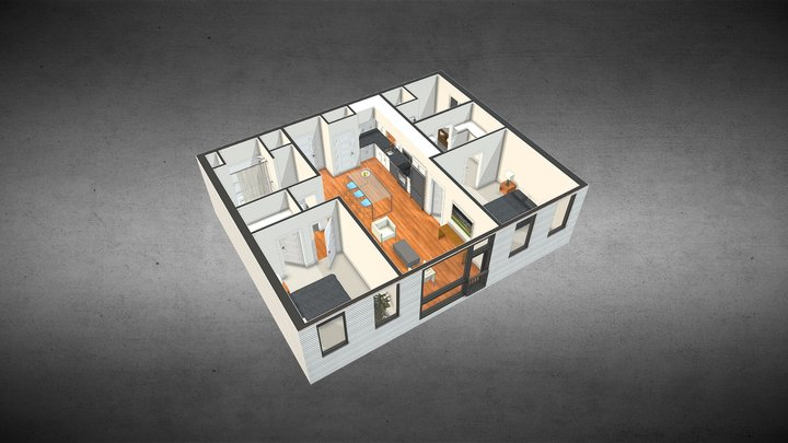 Apartment Floorplan 3D Model