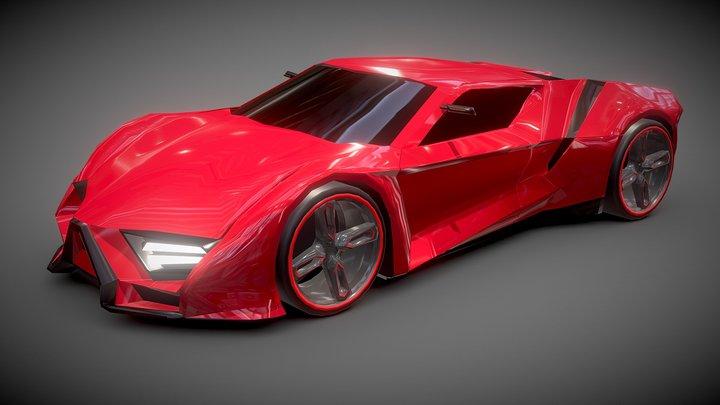 Itonos Lowpoly futuristic concept 3D Model
