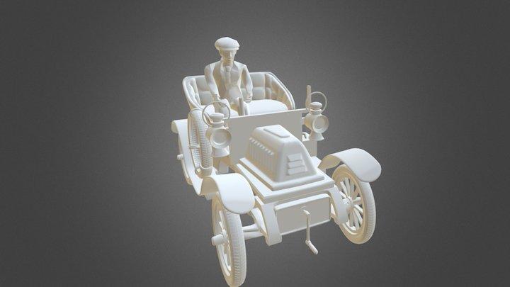 Auto Chofer Deformado 3D Model