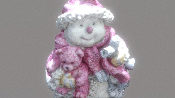 Snowman_2 Chrismtas Ornament 3D Model