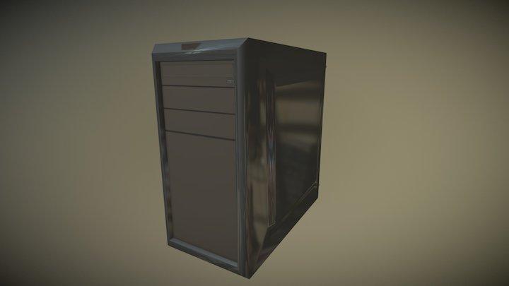 Daily 3D challenge #01 — Custom PC case 3D Model