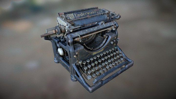 Old Underwood Standard Typewriter n°5 3D Model