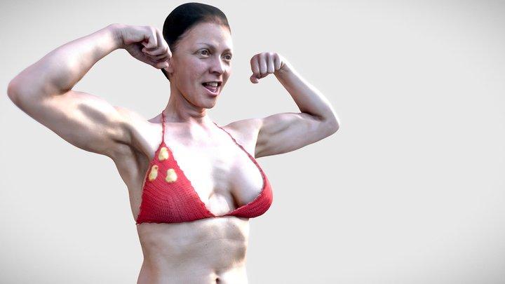 Woman BodyBuilding Pose 3D Model