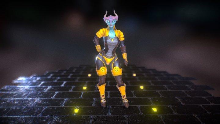 Emmalien Posed 3D Model