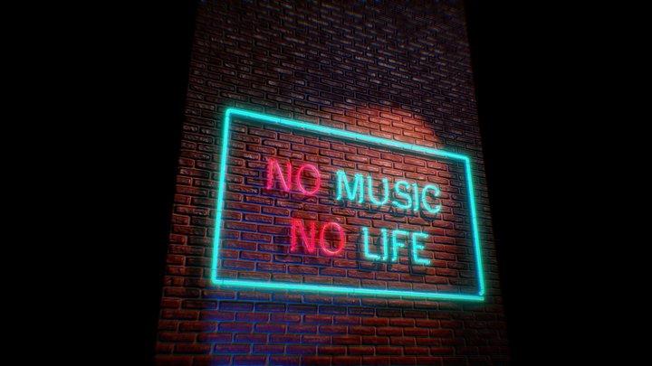 Neon - No music No life 3D Model