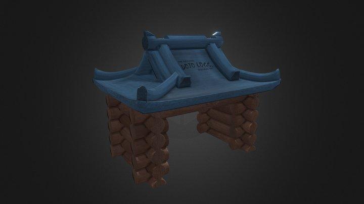 Dojo Logs 3D Model