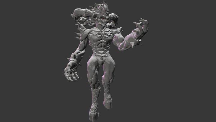 Ifrit Final Fantasy 3D Model