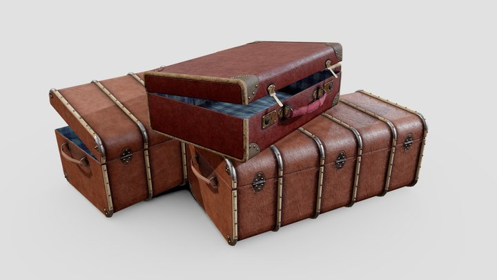 Travel Suitcases 3D Model