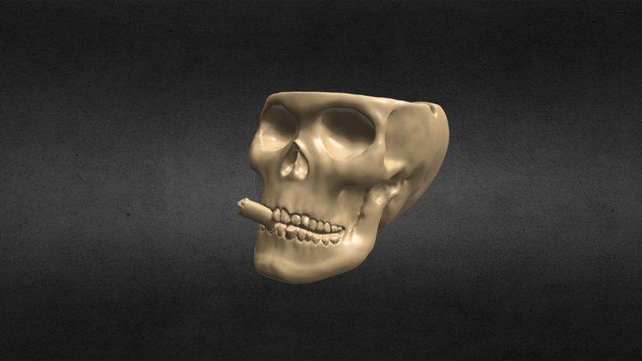 Skull with cigarette 3D Model
