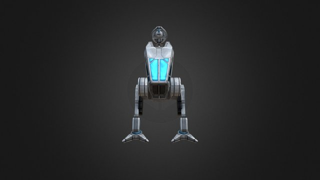 Shooter Mech - Battle Frontier 3D Model