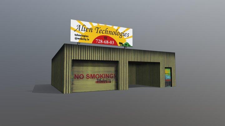 Service Station 3D Model