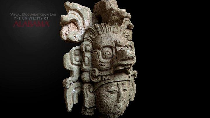 Sculptured head, Copan 3D Model
