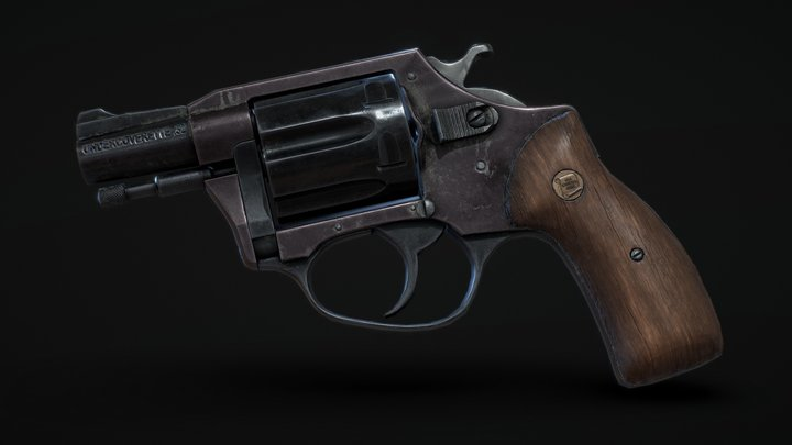 Old Charter Arms Undercoverette .32 Revolver 3D Model