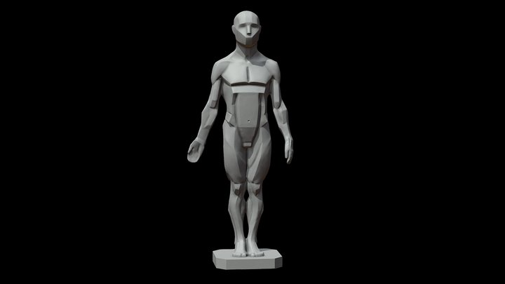 Male Planes of the Body - John Asaro 3D Model