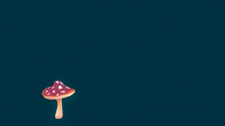 Woodland Mushroom 3D Model