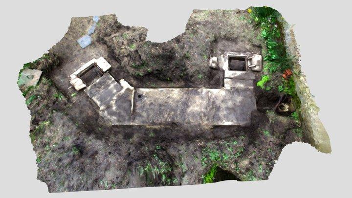 Tranchée refuge, chemin de Halage, Orléans (45) 3D Model