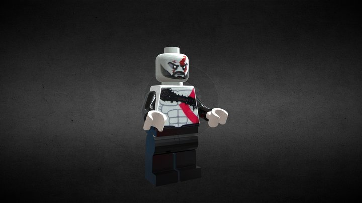 kratos GOW 4 lego 3D Model