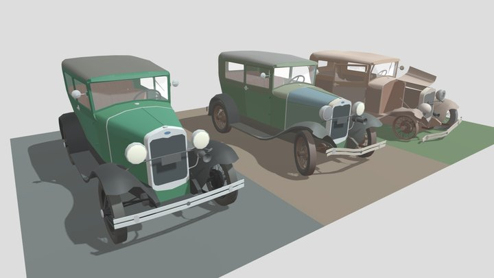 ford 3 versions fixed 3D Model