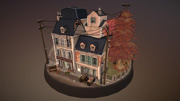 WW2 Cityscene - Carentan inspired 3D Model